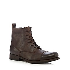 Jack & Jones - Brown toecap boots
