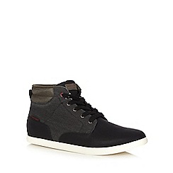Jack & Jones - Navy high top trainers