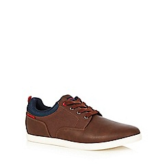 Jack & Jones - Brown colour block lace up trainers