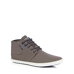 Jack & Jones - Grey quilted lace up trainers