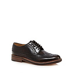 RJR.John Rocha - Chocolate high shine leather brogues
