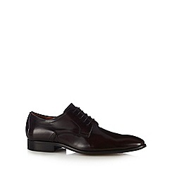 J by Jasper Conran - Plum leather Derby shoes