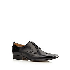 Jeff Banks - Black leather lace up brogues