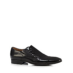 Jeff Banks - Black leather side lace shoes