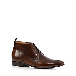 Jeff Banks - Tan leather Chukka boots