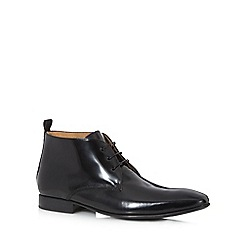 Jeff Banks - Black leather chukka boots