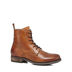 J by Jasper Conran - Tan leather mock lace boots