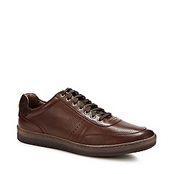 J by Jasper Conran - Dark brown leather derby shoes