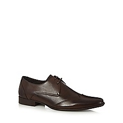 J by Jasper Conran - Dark brown leather lace up shoes