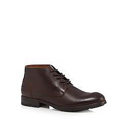 RJR.John Rocha - Dark brown leather lace up ankle boots