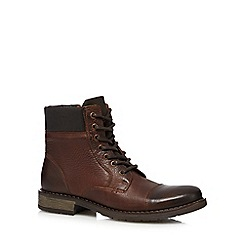 RJR.John Rocha - Dark brown leather ankle boots