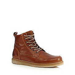 RJR.John Rocha - Tan leather apron toe boots