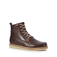 RJR.John Rocha - Dark brown leather apron boots