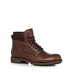 RJR.John Rocha - Dark brown leather fleeced lined ankle boots