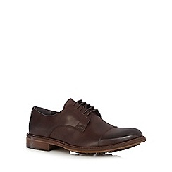 RJR.John Rocha - Chocolate leather Derby shoes