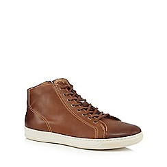 RJR.John Rocha - Tan leather high top trainers