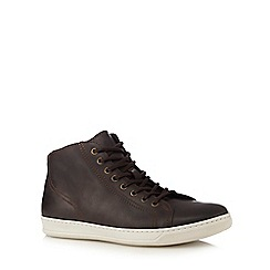 RJR.John Rocha - Brown leather high top trainers