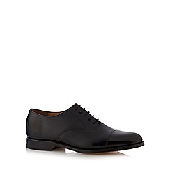 Jeff Banks - Good Year welted black hi shine leather toe caps
