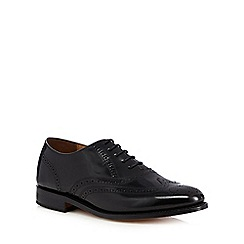 Jeff Banks - Good Year welted black leather hi shine brogues