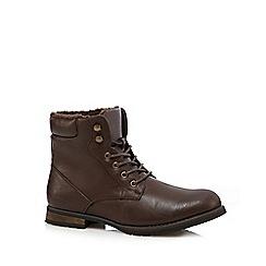 Red Herring - Dark brown fleece lined boots