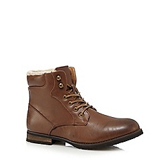 Red Herring - Tan fleece lined boots