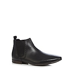 Red Herring - Black leather Chelsea boots
