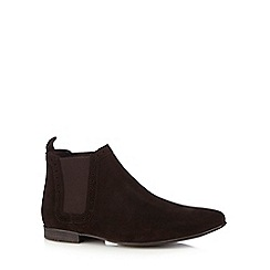 Red Herring - Dark brown suede Chelsea boots