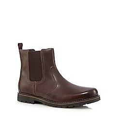 Mantaray - Dark brown leather Chelsea boots