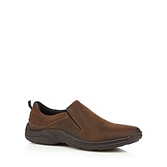 Henley Comfort - Brown leather slip-on shoes