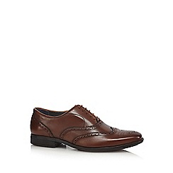 Hush Puppies - Brown 'Griffin Maddow' leather Oxford brogues