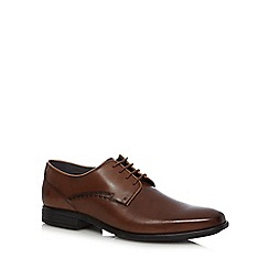 Hush Puppies - Brown 'Kane Maddow' leather derby shoes