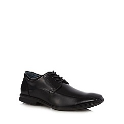Hush Puppies - Black leather 'Thomas' square toe formal shoes