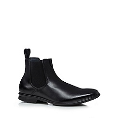 Hush Puppies - Black leather extra wide Chelsea boots
