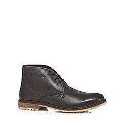 Hush Puppies - Black leather 'Benson Rigby' Chukka boots