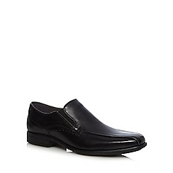 Hush Puppies - Black 'Carter Maddow' leather shoes
