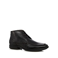 Hush Puppies - Black leather lace up boots