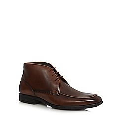 Hush Puppies - Brown 'Tom Maddow' leather chukka boots
