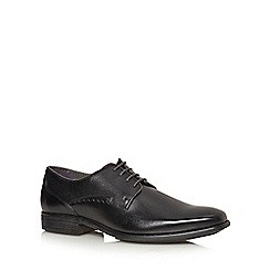 Hush Puppies - Black 'Kane Maddow' leather derby shoes