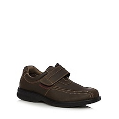 Hush Puppies - Brown 'Perry Stone' leather shoes