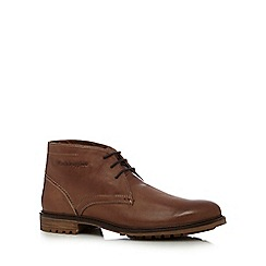 Hush Puppies - Tan 'Benson Rigby' leather Chukka boots