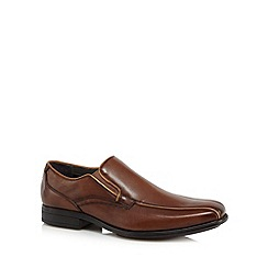 Hush Puppies - Brown 'Carter Maddow Tramline' slip on shoes