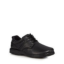 Hush Puppies - Black leather 'Bennett' lace up shoes