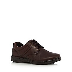 Hush Puppies - Brown leather 'Bennett' lace up shoes