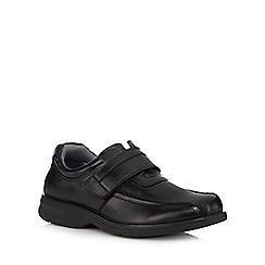 Hush Puppies - Black 'Perry Stone' leather rip tape shoes