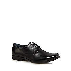 Hush Puppies - Black 'Easton Ralston IIV' leather shoes