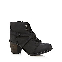 Hush Puppies - Black 'Moorland' leather high boots