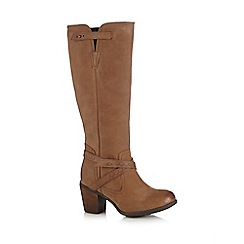 Hush Puppies - Tan 'Gussie Moorland' knee-high boots