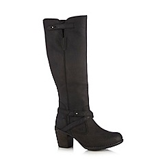 Hush Puppies - Black 'Gussie Moorland' knee-high boots