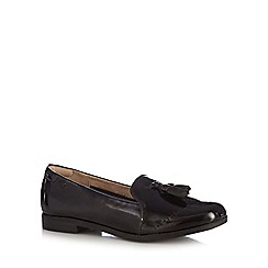 Hush Puppies - Black leather slip-on shoes
