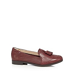 Hush Puppies - Dark red 'Jetta Sloan' slip ons
